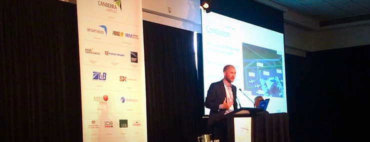 Adam Levy presenting at AAA National Conference, Australia