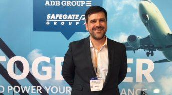 Regardt Willer at the ADB Safegate stand at the British Irish Airports Expo 2016