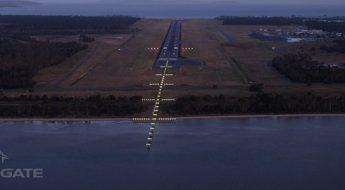 Hobart Airport installs Australia's first High Intensity LED Runway