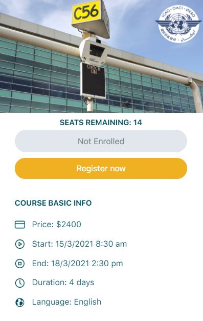 ONLINE LIVE TRAINING ICAO A-VDGS training